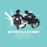 Motorrad-Unfall Stockfotografie