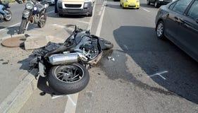 Motorrad-Unfall Stockbilder