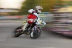 Motorrad unscharfe Bewegung Lizenzfreies Stockfoto