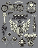 Motorrad-Vektor-Element-Satz Stockfoto