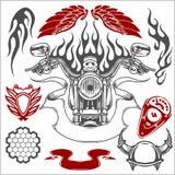 Motorrad-Vektor-Element-Satz Lizenzfreies Stockbild