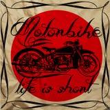 Motorrad-Weinlese-Mann-T-Shirt Design-Grafik-Vektor Vektor Abbildung