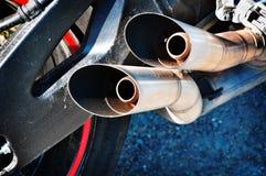 Motorradabführung stockbild