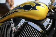Motorradbecken und -motor Stockbild