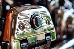 Motorradchromfuß - Platte Stockfotos