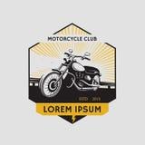 Motorradclubaufkleber Motorradsymbol Motocycle-Ikone Lizenzfreie Abbildung