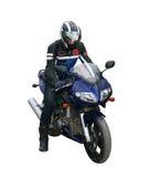 Motorradfahrer. Lizenzfreie Stockfotos