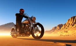 Motorradfahrer Stockbild