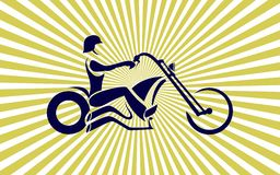 motorradfahrer Lizenzfreie Stockfotografie