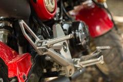 Motorradfußplatte Lizenzfreies Stockfoto