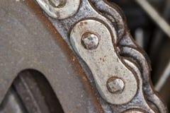 Motorradkette in ausführlichem Bild Stockbild