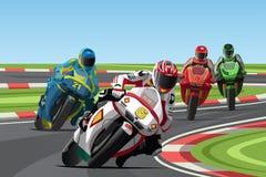 Motorradlaufen Stockfotos