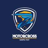 Motorradlogoillustration Lizenzfreie Stockfotografie