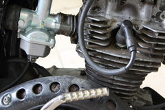 Motorradmaschine im Rost Stockfotografie