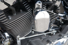 Motorradmotornahaufnahme Stockfotos