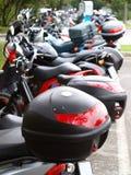 Motorradparken Stockfotografie