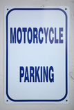 Motorradparkzeichen Stockbild