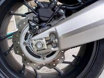 Motorradrad-Scheibenbremspumpe Stockfoto
