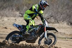Motorradreiter Stockfoto