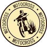 Motorradrennläufer-Sportaufkleber Stockfotografie