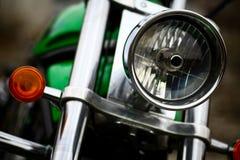Motorradscheinwerfer Stockfotos
