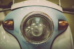 Motorradscheinwerferdetail Stockbild