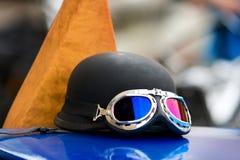 Motorradschutzbrillen Stockbilder