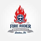 Motorradshop-Logoschablone Lizenzfreies Stockfoto