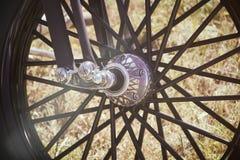 Motorradspeichen morgens Lizenzfreies Stockbild
