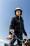 Motorradspindel Stockfotografie