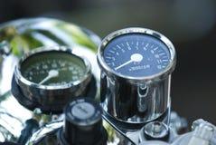 Motorradtachometer Stockfotos