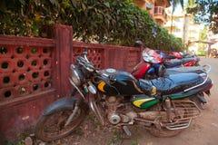 Motorradtransport in Indien Stockbild