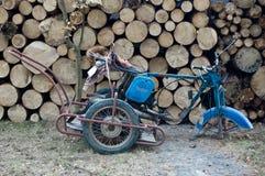 Motorradwrack lizenzfreie stockbilder
