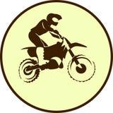Motorradzeichenhintergrund Lizenzfreie Stockbilder