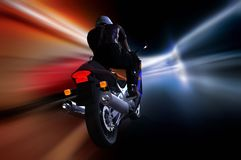 Motorrijder Stock Foto