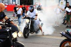 Motorrijder bij de gebeurtenis van de Week 2010 van Ducati van de Wereld Royalty-vrije Stock Afbeelding