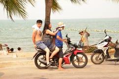 motorrijders stock afbeelding