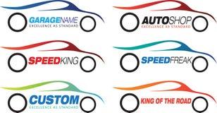Motorsport商标或标志 库存例证