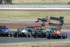 Motorsport, arresto ad alta velocità Immagini Stock Libere da Diritti