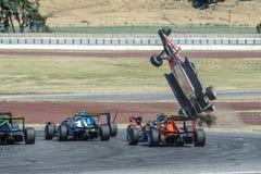 Motorsport, arresto ad alta velocità Fotografia Stock