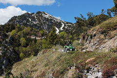 Motorsport - With the ATV in the mountains Royalty Free Stock Images