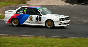 Motorsport BMW E30 Warsteiner M3. Saloon car racing BMW E30 Warsteiner M3 Group A Touring car racing at Hampton Downs motorsport park  classic car meeting Stock Image