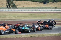 Motorsport, desplome de alta velocidad Imagenes de archivo