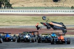 Motorsport, desplome de alta velocidad Fotografía de archivo libre de regalías