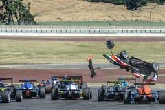 Motorsport, desplome de alta velocidad Imágenes de archivo libres de regalías