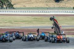 Motorsport, desplome de alta velocidad Imagen de archivo libre de regalías