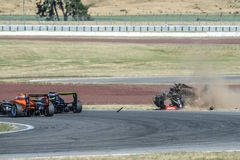 Motorsport, desplome de alta velocidad Foto de archivo