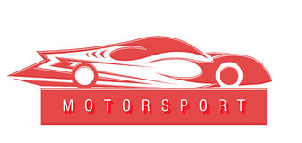 Motorsport emblem Royalty Free Stock Images