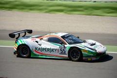 Motorsport Ferrari de Kaspersky 488 GT3 en Monza Imágenes de archivo libres de regalías