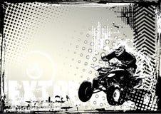 Motorsport grunge Hintergrund Lizenzfreie Stockbilder